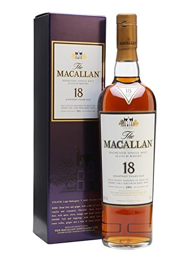 Macallan Sherry Oak 18 Years Old Whisky mit Geschenkverpackung  (0,7 L)