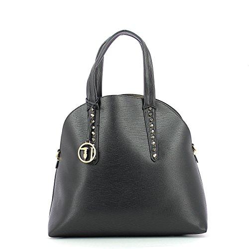 Trussardi Jeans Aspen Ecosaffiano Handtasche grey_grey x black_black, schwarz