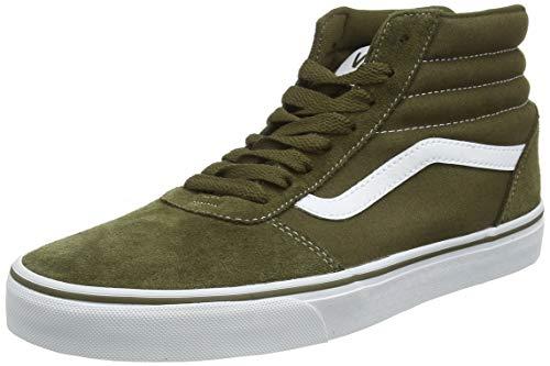 Vans Herren Ward Hi Sneaker, Grün ((Suede/Canvas) Beech/White Uzh), 43 EU