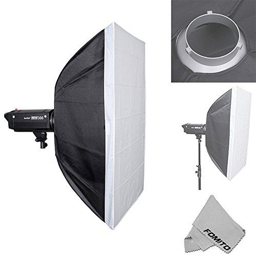 fomito 60 x 90cm Studio Beleuchtung Foto Softbox Bowens Mount für Light Flash, für Godox, für Jinbei, für Neewer Stroboskop/Blitzlicht...