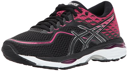 ASICS Womens Gel-Cumulus 19 Running Shoe, Black/Silver/Ink Peacoat, 7 Medium US