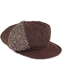 Olney Gorra Baker Boy Ellie de algodón Encerado y Tweed Marrón 7c1ef00179b