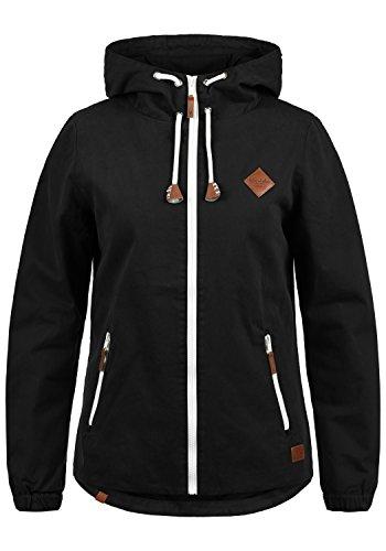 Blend She Bibi Damen Übergangsjacke Jacke Mit Kapuze Aus 100% Baumwolle, Größe:XL, Farbe:Black (70155) (Kapuzen-anorak-jacke)