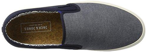 JACK & JONES Jfwrush Textile Mix Navy Blazer, Scarpe da Ginnastica Basse Uomo Blu (Navy Blazer)