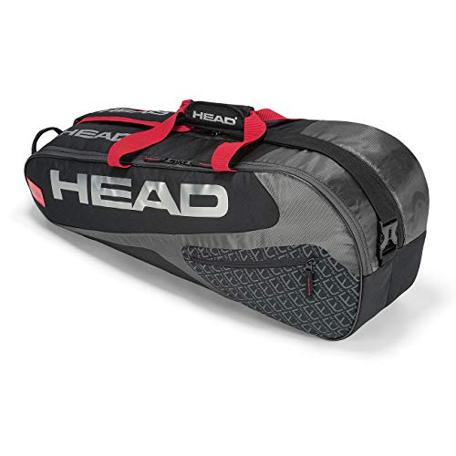 HEAD Unisex - Erwachsene Elite 3R Pro Tennistasche, Black/red, Andere