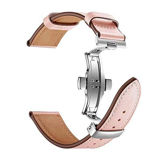 TianranRT Schmetterling Schnalle Leder Handgelenk Watch Armband Band Für IWatch Apple Watch 4 44 mm (Rosa,44 mm) (Band Apple Ipod Watch)