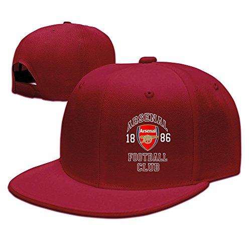 Arsenal FC Soccer Logo Baseball Snapback Cap Red
