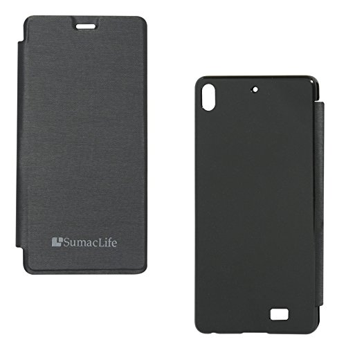 SumacLife PU Leather Flip Cover Case for Gionee M2 (Black)  available at amazon for Rs.219