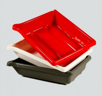 Paterson PTP336 Juego de 3 bandejas de revelado 30.5 x 40.6 cm, color gris y rojo y blanco
