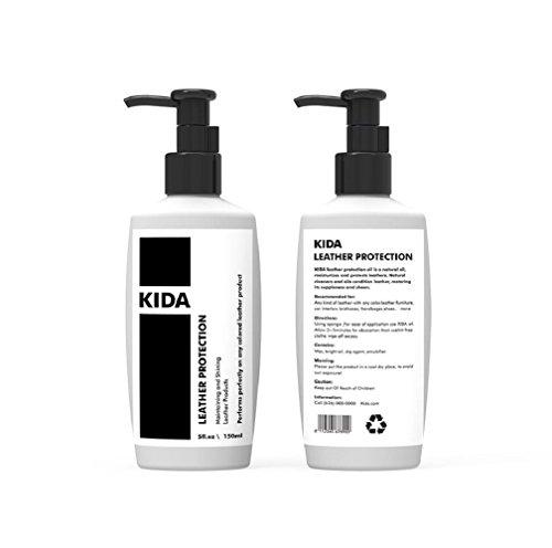 Kida Leder Klimaanlage Cream Oil für Leder Schutz 142ml Wasser Widerstand ungiftig für alle Lederimitat mit jedem Farbe Auto Möbel Tasche Kleidung (Lammfell Handtasche Rot)