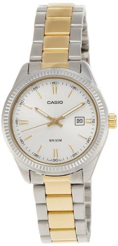 Casio LTP-1302SG-7A – Reloj analógico de cuarzo para mujer, correa de acero inoxidable multicolor
