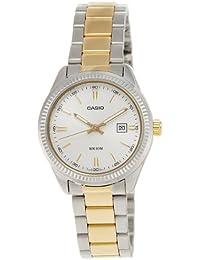 Casio LTP-1302SG-7A - Reloj analógico de cuarzo para mujer, correa de acero inoxidable multicolor