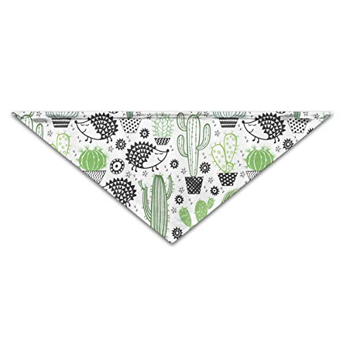 Rghkjlp Hedgehog Prickly Pear Pet Bandana Triangle Dog Cat Neckerchief Bibs Scarfs Accessories for Pet Cats and Baby Puppies