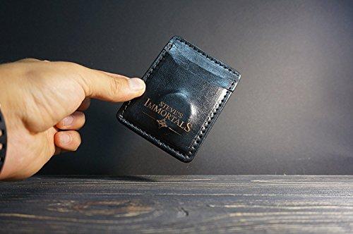GPS Trackable RFID Blocking minimalistischen Brieftasche. Schützt vor Kartendiebstählen und spart vor dem Wiederholen der Geldbörse. (Leder Verfolgung)