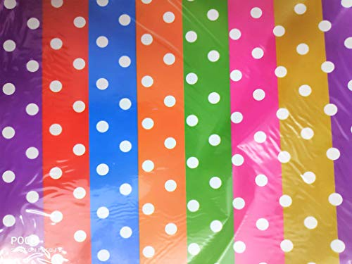 INDOGIFTS : Pack of 25 Papers Mix Colored Polka Dots Gift Wrapping Sheet in Assorted Colors and Designs with 50 Gift Cards (20 x 27 Inch) 85 GSM