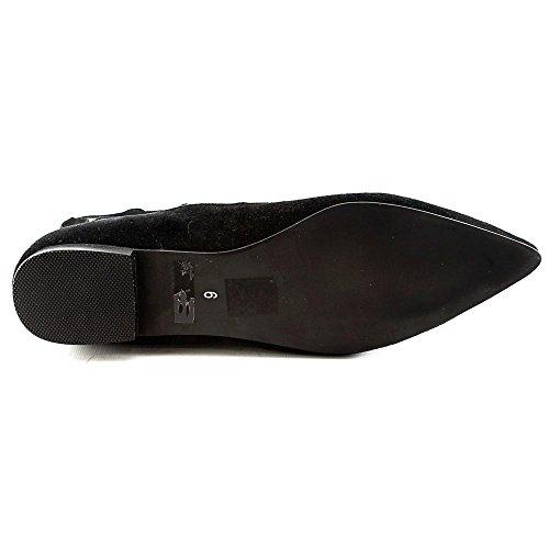 Jeffrey Campbell Atrium Daim Chaussure Plate Noir
