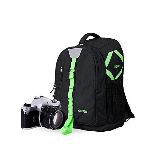 LYDZ-Taschen Outdoor Wandern professionelle wasserdichte Polyester Kamera große Kapazitäts-Multi-Funktions-Rucksack Tasche (Color : Black, Size : 31 * 19 * 47 cm)