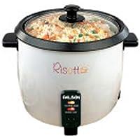 Palson 30472 Hervidor de arroz y Verduras, 1,8 l, 750 W, plástico, Negro, Color Blanco