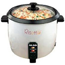 Palson - Hervidor de arroz y verduras, Risotto, Eléctrico, 1.8L, Tapa Cristal, Antiadherente.
