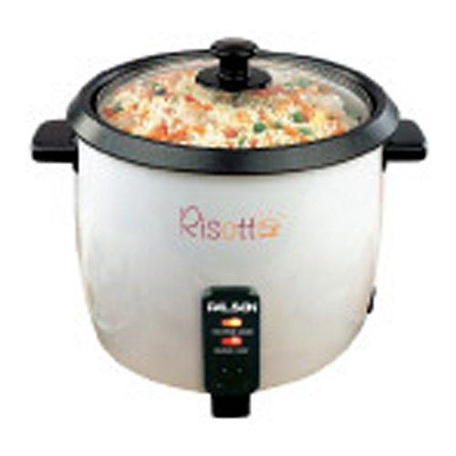 Palson 30472 Hervidor de arroz y verduras, 1,8 l 750 W, plástico, Negro, Color blanco