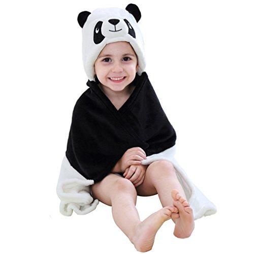 MICHLEY Baby Bademantel Tier Kapuzen Handtuch Soft Fleece Baden Wrap Decke für Jungen und Mädchen(panda)