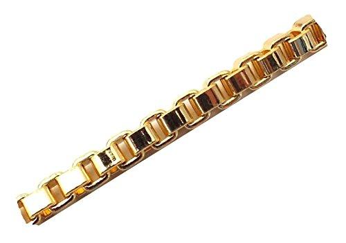 ette 18kt Gold Doublé 2,6 mm Länge 100 cm Halskette Goldkette Herren-Kette Anhängerkette Damen Geschenk Schmuck ab Fabrik Italien VGYs2,6-100 ()