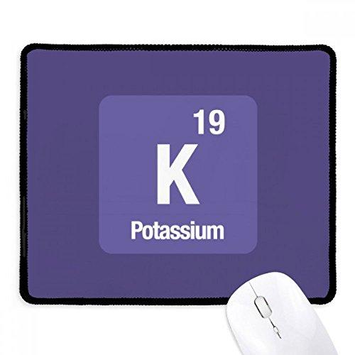 DIYthinker K Kalium chemisches Element chem Non-Slip Mousepad Spiel Büro Schwarz Titched Kanten Geschenk