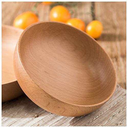 YYF Bol japonais rétro en bois - bol de riz pour vaisselle bol à nouilles bol à soupe ménage bois 5-7 pouces (Color : Brown, Taille : 15cm)