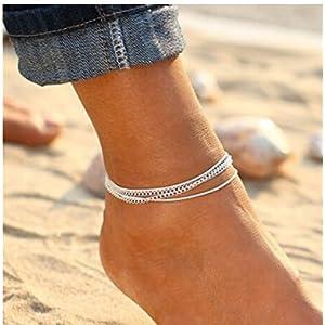 Landsell Bohemian Style Fußkettchen passend Kette Sommer Strand