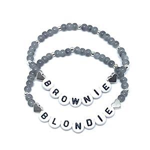 Armbänder Set Blondie Brownie Freundschaftsarmbänder 2er Set Perlen Armkettchen