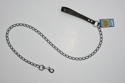122cm (4ft) long Dog Chain Lead Heavy Duty 3mm Steel BLACK 1