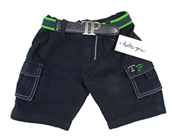 """TUTTO PICCOLO """"Golf"""" Baby Jungen Set aus Bermuda Shorts und Gürtel (Blau/Grün)"""