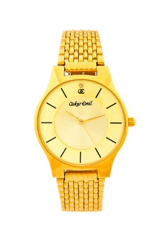Oskar Emil Ascot Gold with Diamond Ultra Thin Gents watch