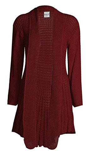 Top Fashion Damen Übergrößen Lange Ärmel Plain Häkeln Strick Wasserfall Cardigan Pullover Größe 36-50