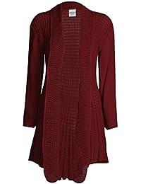 Top Fashion Damen Übergrößen Lange Ärmel Plain Häkeln Strick Wasserfall Cardigan  Pullover ... 061aab274b