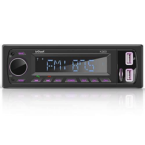 ieGeek Autoradio Bluetooth RDS Estéreo 60W * 4 Sistema de Radio Manos