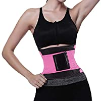 Maxi Up Graded Women's Waist Trainer Belt for Women Waist Cincher Trimmer Slimming Body Shaper Belt Sport Girdle Belt Weight Loss Ab Belt Pink S
