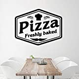 Ajcwhml Hot pizza vinyl freshly baked wall sticker removable room wall decal for shop decoration wallpaper