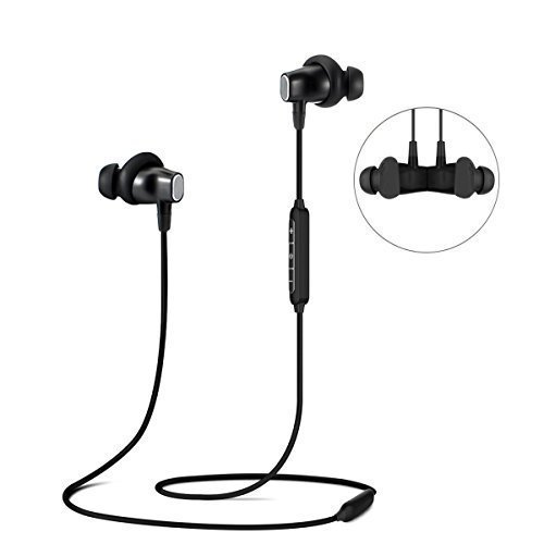 Galleria fotografica Cuffie Bluetooth, ELEGIANT Multi Funzione Bluetooth 4.0 Wireless Stereo Headset ricaricabile senza fili Cuffie auricolari di alta qualità cuffie on-ear con funzione vivavoce + Mic/3,5 mm Audio Aux compatibile con telefoni cellulari e iphone 7 6 6plus iPad Samsung HTC LG Laptop Tablet Smartphone e altri dispositivi Bluetooth In ear Kopfhörer