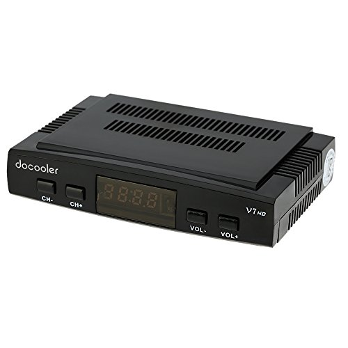 docooler Free SAT V7 HD DVB-S2 Empfänger Satelliten-Receiver TV Digital Video Rundfunk Empfänger Decoder unterstützt USB PVR EPG für TV HDTV (Automatische Top-off-system)