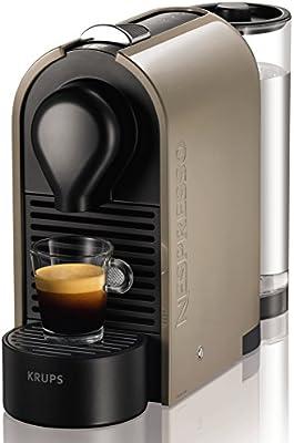 Nespresso U Taupe (Gris arena) XN250AP4 Krups - Cafetera monodosis (19 bares, Máquina Táctil, Depósito modular), Color gris arena