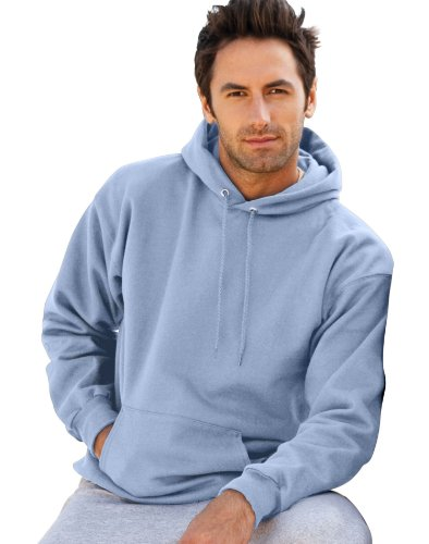 Hanes Ultimate Cotton Pullover Hooded Sweatshirt, Light Blue,3XL (Ultimate Cotton Pullover Hooded)