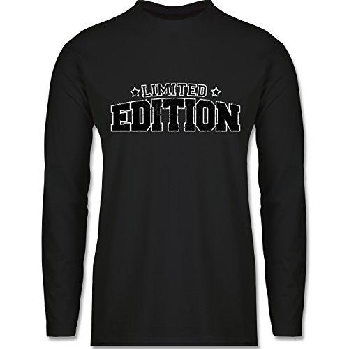 Shirtracer Statement Shirts - Limited Edition Vintage - Herren Langarmshirt Schwarz