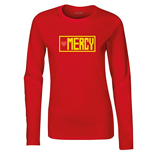 Brand88, Choose Mercy, Dames t-shirt à manches longues Rouge