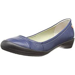Softinos FLORINDA, Damen Pumps , Blau - Blau (Marineblau) - Gr. 37 EU (4 UK)