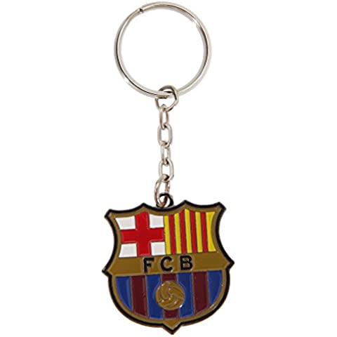 Barcelona FC-Portachiavi con stemma della squadra di calcio ufficiale, in metallo