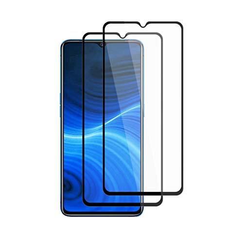 """Henxunton Realme X2 Pro 6.5"""" Panzerglas, [Schwarz-2 Stück] [Blasenfreie] [Vollständige Abdeckung] Glas Displayschutzfolie für Realme X2 Pro Smartphone"""