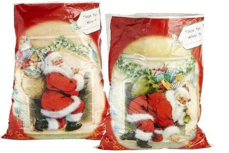 Grande tradizionale natale giocattolo sacks–con nome childs space–confezione da 2