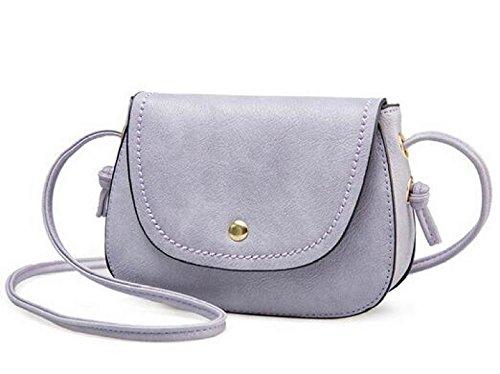 DFUCF Damen PU Büro Umhängetasche Beruf Kuriertasche Handtasche Mode Lässig Robust Party Aktivität Purple