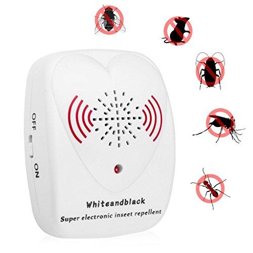 repelentes ultrasónicos Repelente ultrasónico de plagas, repelente ultrasónico contra mosquitos / ratas para cucarachas, ratones, roedores, arañas, moscas, moquitos, hormigas y pulgas